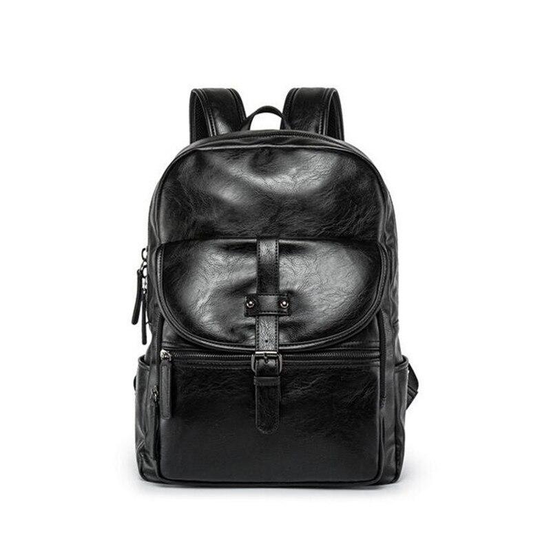 Nouveau multifonction mode hommes sac à dos Vintage sac à dos en simili cuir polyuréthane en cuir sac d'école homme sac de voyage