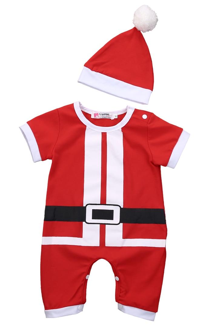 Jumpsuit Weihnachten.Us 4 59 8 Off 2 Stucke Neugeborenen Baby Madchen Jungen Santa Outfits Babys Jungen Madchen Weihnachten Jumpsuit Hut Weihnachten Set Kleidung In