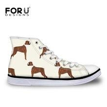 FORUDESIGNS Mens Vulcanized Shoe 3D Boxer Dog Print Flats Ma