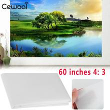 Projector Curtain Soft Projector Screen 4 3 60 inch Home Theater Classroom Projection Screen Cinema