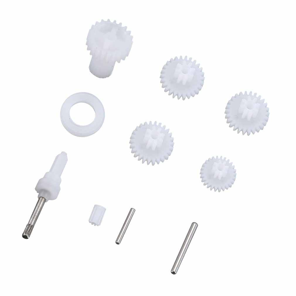 T-power Plastic Servo Gear Set RC Helicopter Parts Accessories for XK K130 RC Helicopter RC Drone White