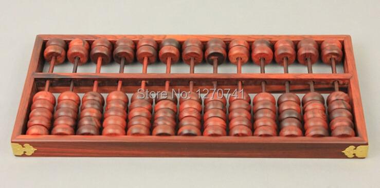Haute qualité 13 colonne vieux séquoia Abacus Vintage chinois soroban outil en mathématiques éducation pour comptable