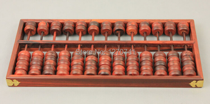 high quality 13 column old redwood Vintage Abacus Chinese soroban Tool In Mathematics Education for accountant high peak redwood