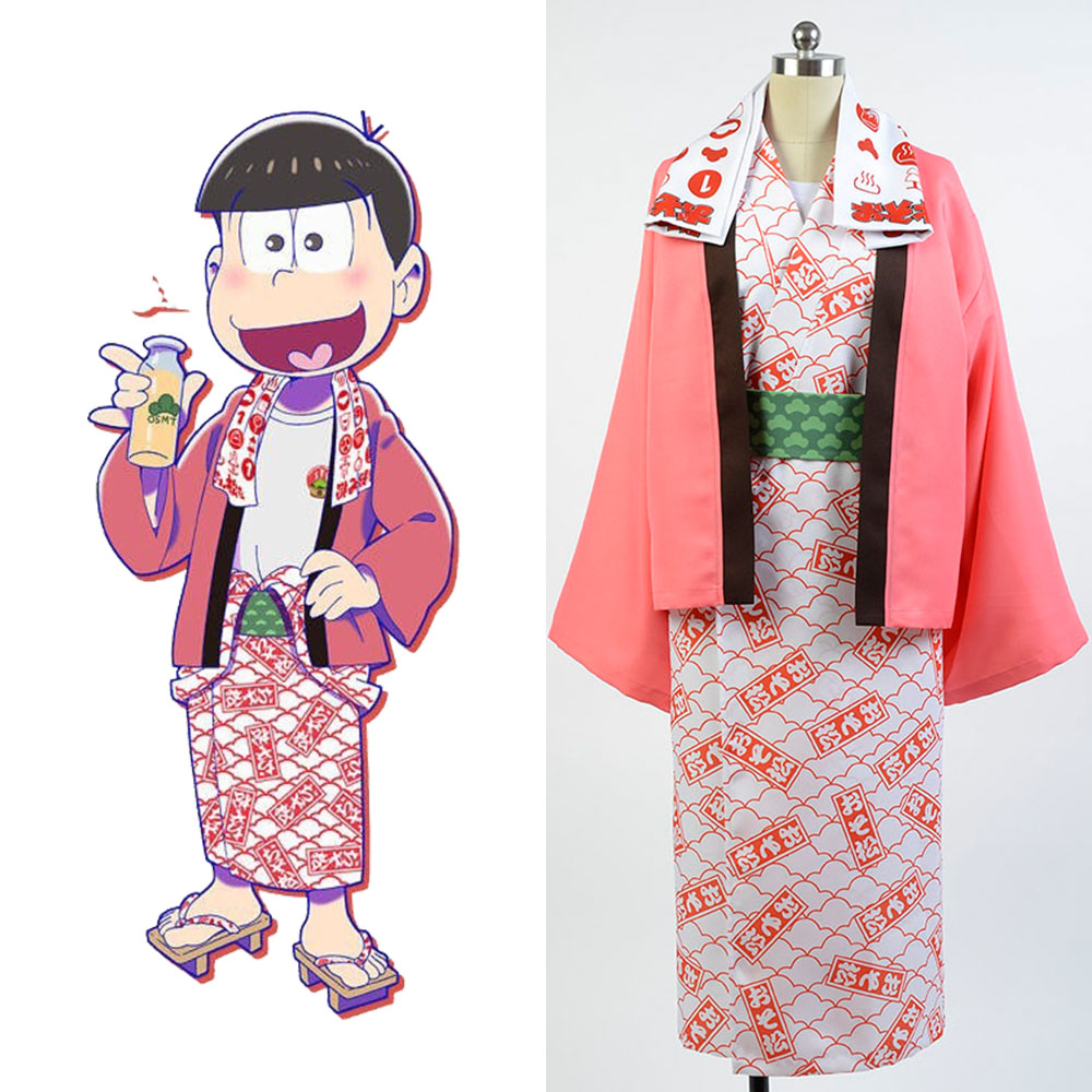Osomatsu-kun cosplay Osomatsu Yukata Kimono Costume full set bathrobe cosplay Halloween Party Carnival Christmas Costume