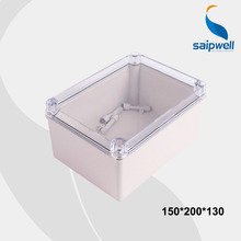 150*200*130mm Size  IP66 Waterproof Transparent Cover ABS Body Box Waterproof Plastic Box with CE (DS-AT-1520-1)