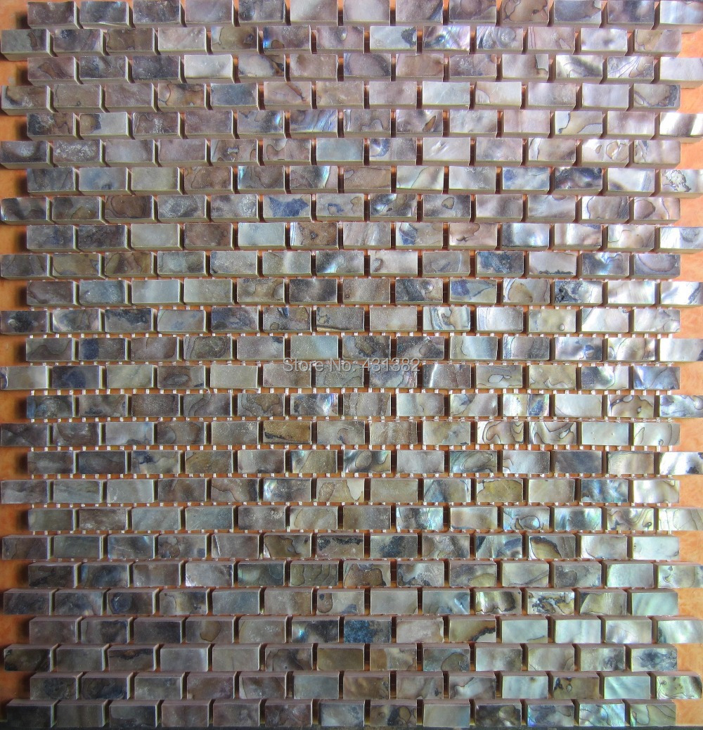 Wall tile buy cheap stone wall tile lots from china stone wall tile - Black Color Tiles Wholesale Natural Color Mother Of Pearl Shell Wall Mosaic Brick Tile For Interior