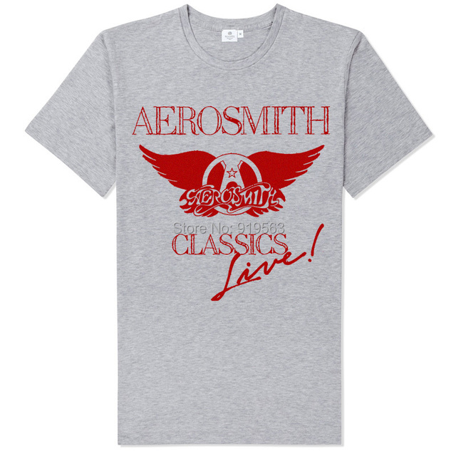 d6d223c08ccbe Aerosmith Guns N roses bon jovi mixed items gray t shirt-in T-Shirts ...