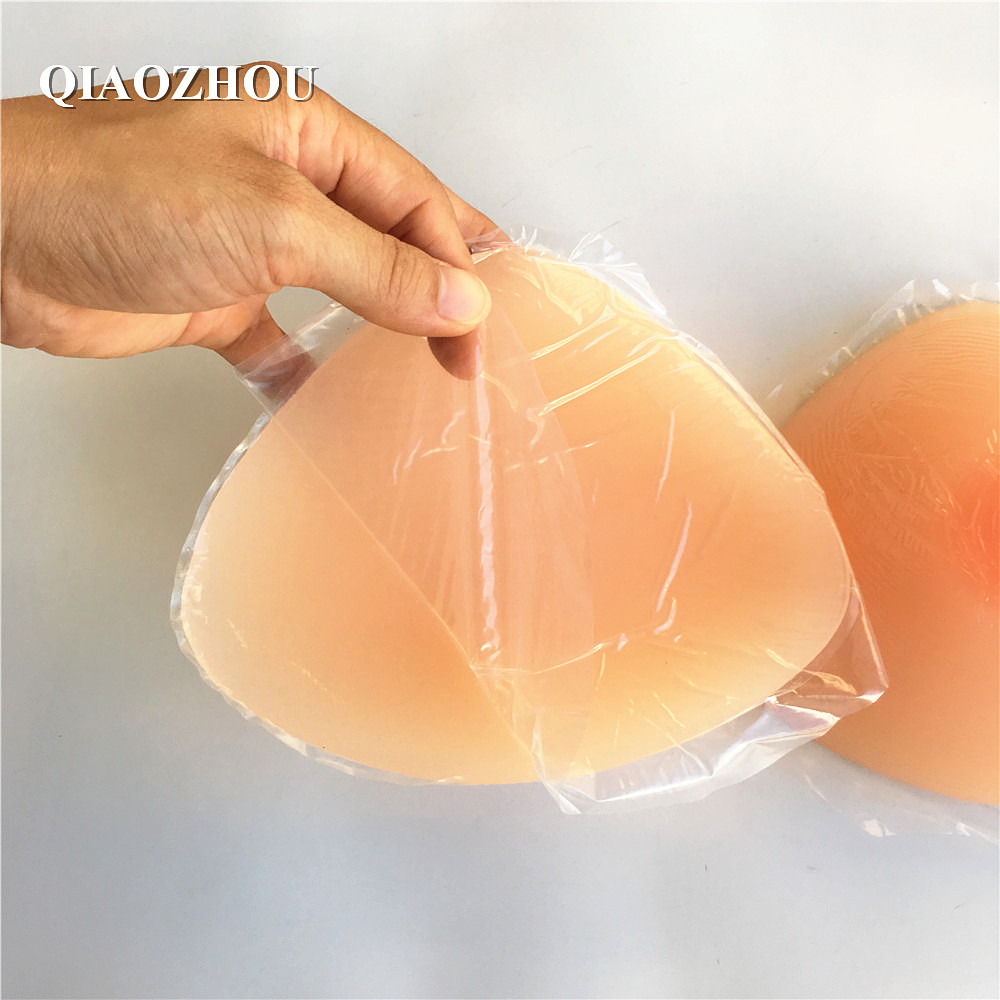 DD cup 1200g/pair self adhesive silicone breast form CD transsexual false boobs