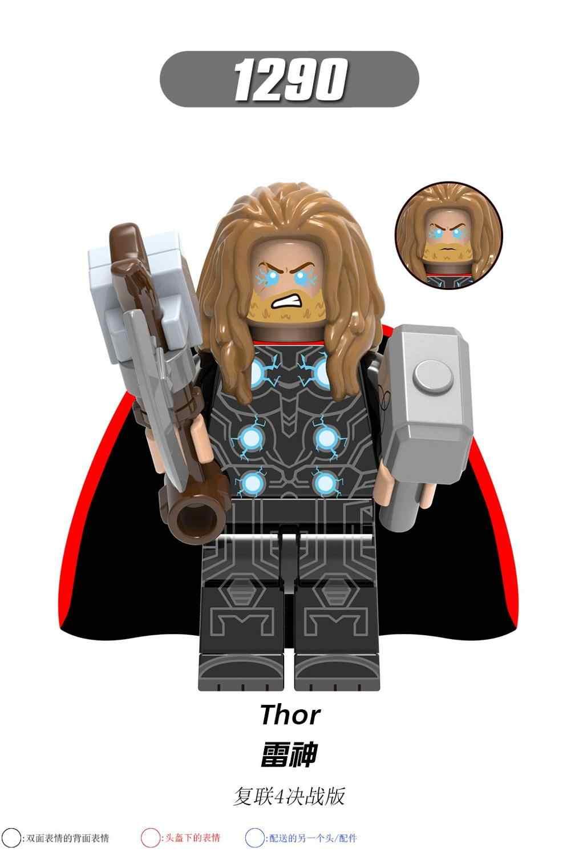 X0261 Thor עתיקות אחד פלפל איש ברזל קפטן מארוול מלחמת מכונה אבני בניין צעצועים לילדים