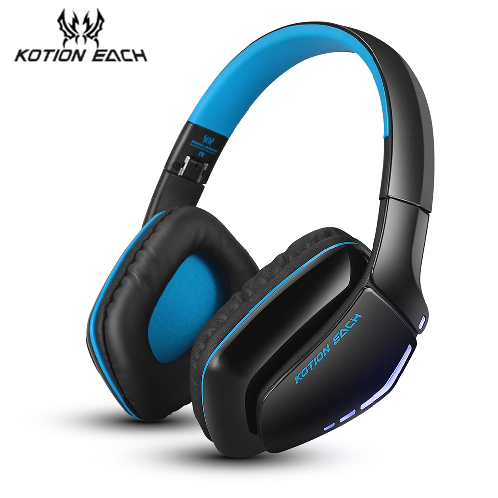 EACH Earphones with Mic Bluetooth Wireless Gaming Headphone V4.1 Bluetooth with Improved Sound Quality and Better Equalization