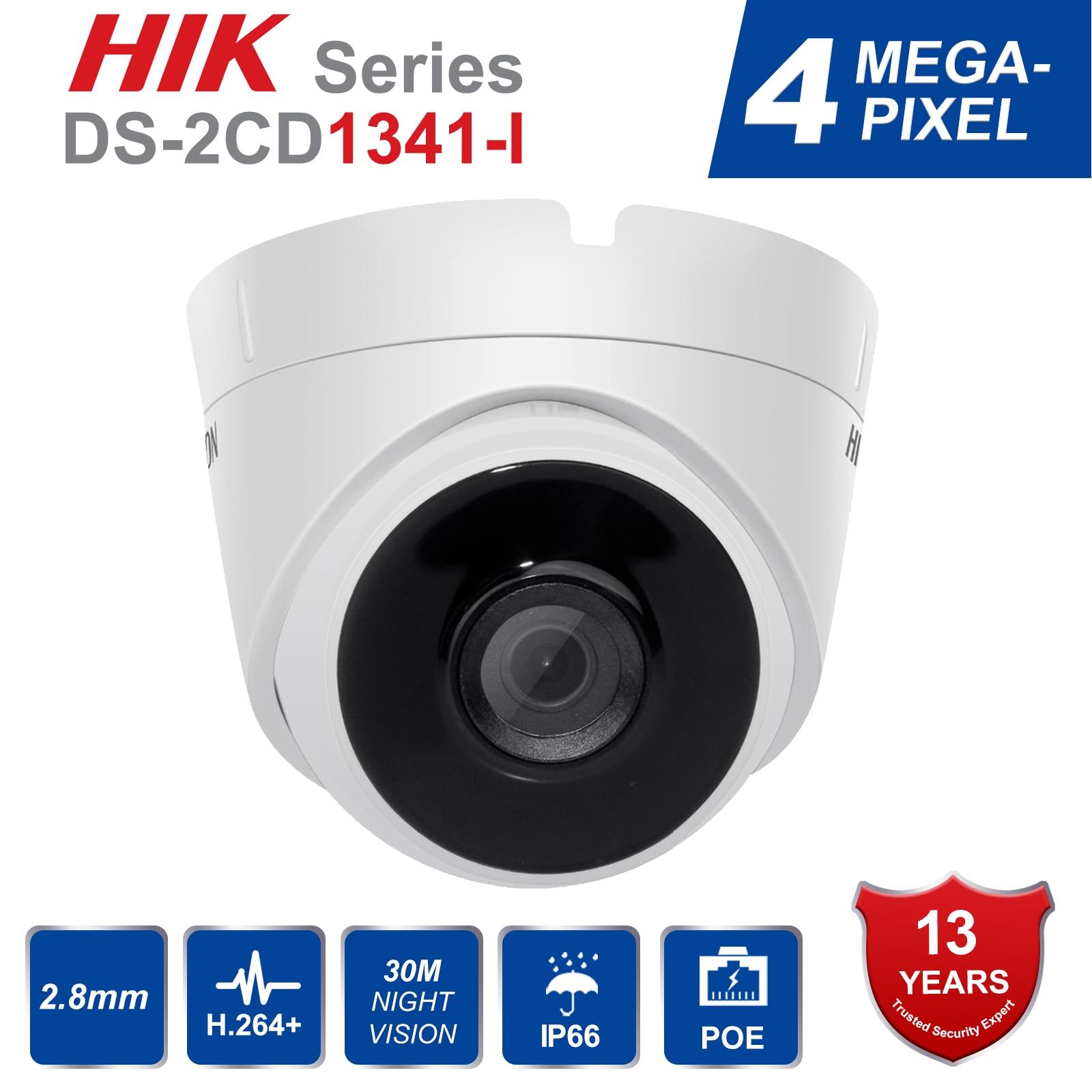Original Hik Security Dome Camera DS 2CD1341 I 4MP CMOS Network Turret PoE IP Camera with
