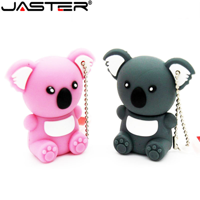 Cartoon U Disk Lovely Koala Pendrive Cute Animal Model Usb Flash Drive Pen Drive 4GB 8GB 16GB 32GB USB Stick Gifts With Keychain