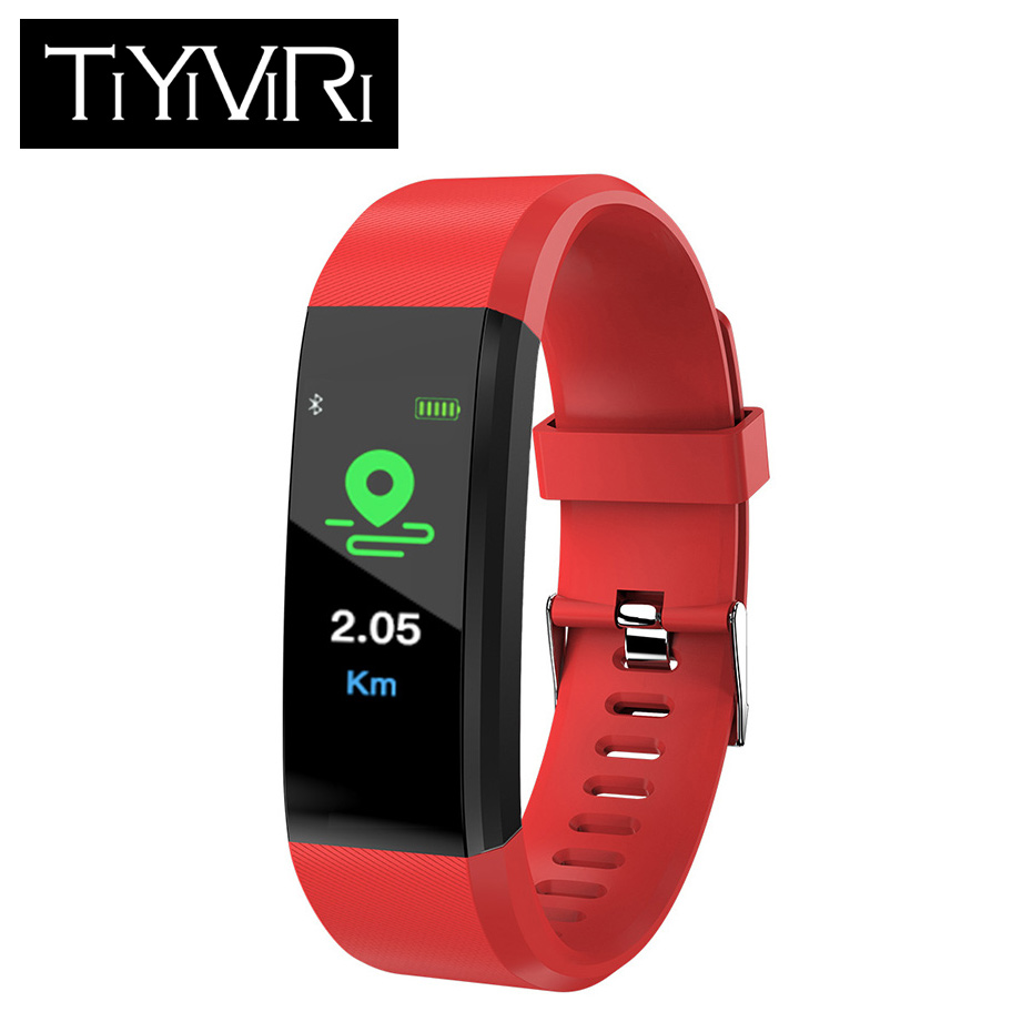 ID115PLUS Smart Bracelet Color Screen Sports Wristband Heart Rate Monitor Watch Activity Fitness Tracker Smart Band PK Mi band 2 цена 2017