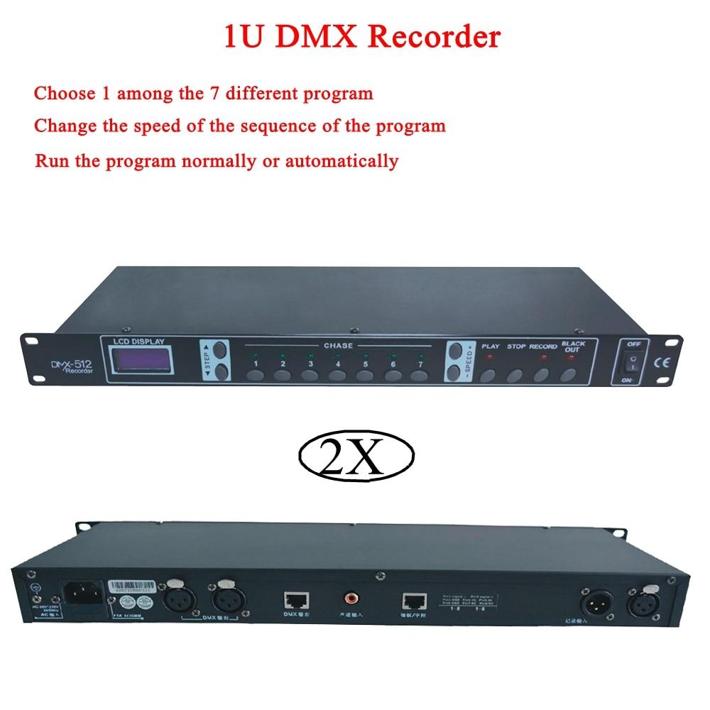 2pcs/lot 1342 1U DMX Recorder Easy Controller - DMX 512 Controller, Stage Equipment Dmx Recorder Dmx 512 Control Partner