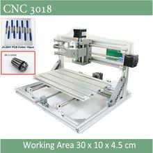 CNC 3018 Grawer z ER11 Chuck Z Laserem Opcja 500 mw 2500 mw 5500 mw Dla Pcb Frezowania Drewna Miękkiego Metalu grawerowanie