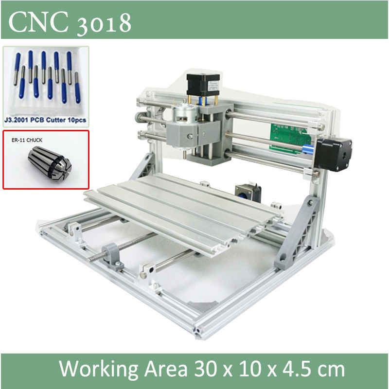 Mini CNC 3018 Standard CNC Engraving Machine With ER11 Chuck With 500mw 2500mw 5500 Mw Laser