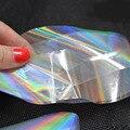 6 Colores de Cristal Roto Uñas Minx Foil Wraps Polaco Nailart 3D Diseño de Uñas Hoja Transferencia Pegatinas para Uñas Decoraciones ZJ1107