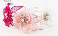 Sombrero Sinamay Fascinator Venda de La Flor Hairband de La Boda Sombreros Y Tocados Diademas Tocado Nupcial Acessorios Cabello