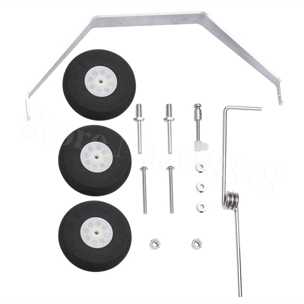 Aluminum Main Landing Gear Wheel Kit font b RC b font Airplane Cessna 182 Parts Replacement