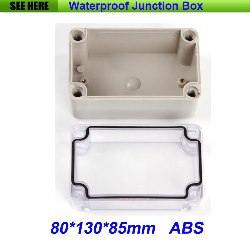 все цены на Free Shipping Good Quality ABS Material Clear Cover IP66 Waterproof Electrical Junction Boxes 80*130*85mm