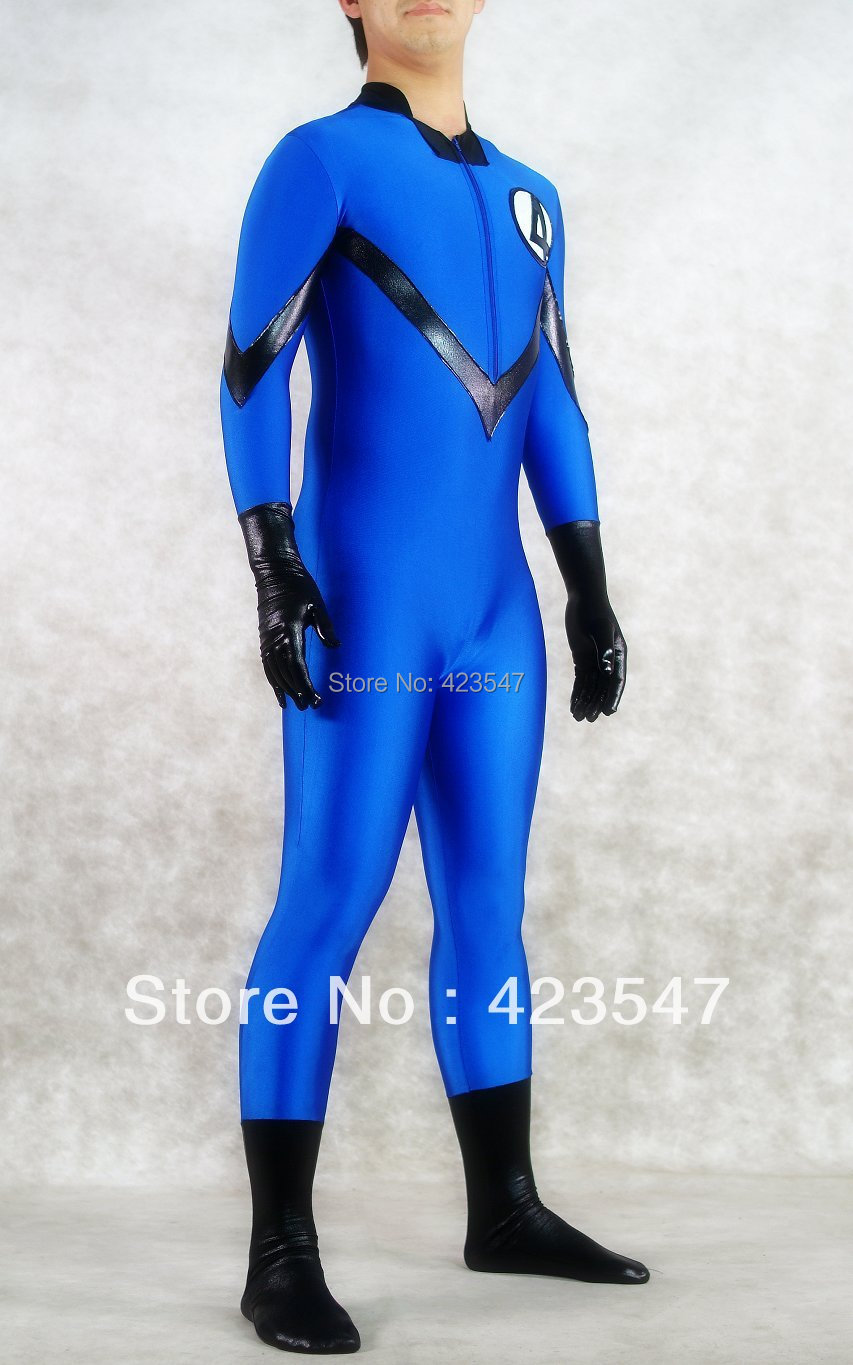 Fantastic Four Costumes Lycra tights Cosplay Halloween party Suit free shipping