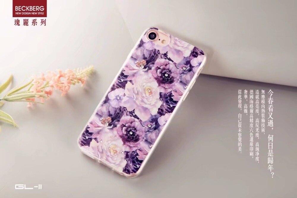 "imágenes para Nueva beckberg rhinestone case para iphone 5 5s se 6 6 s 4.7 ""lujo colorido tpu w/diamond back casos de la cubierta para apple 7 7 plus"