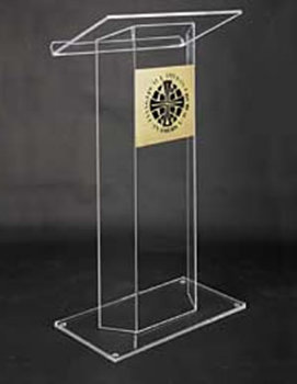 Free Shipping Acrylic High Quality Acrylic Pulpit Church Platform Logo Customize Cheap School Furniture