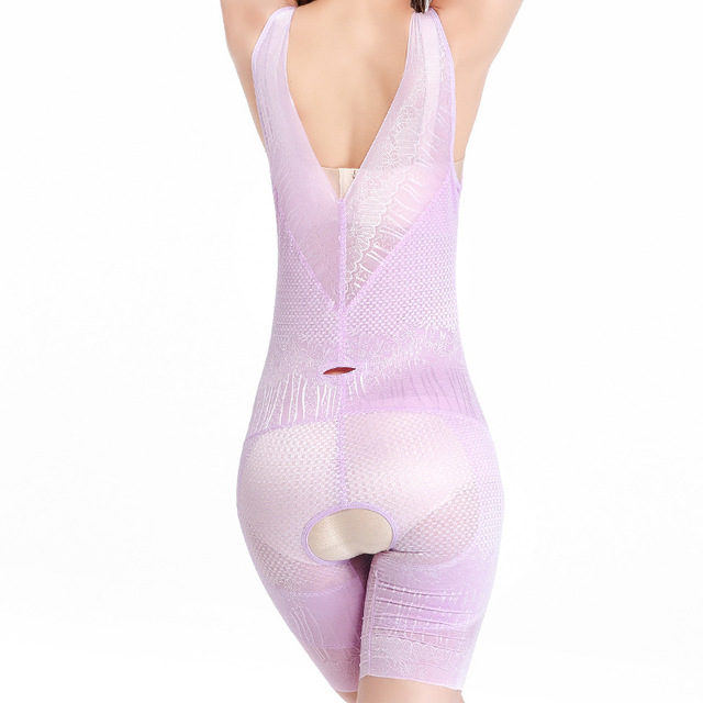PRAYGER Sexy Women Control Full Body Shapewear Lift Chest Slimming Waist Shapers Open Crotch Lift Butt Bodysuits Underwear