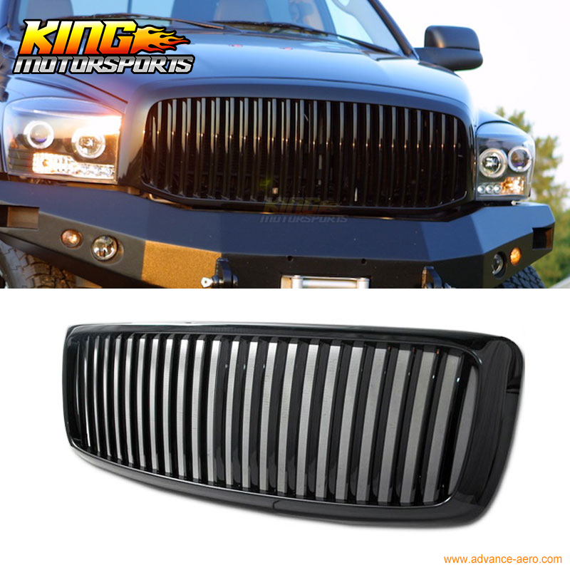 For  06 07 08 Dodge Ram 1500 2500 3500 Black Vertical Grille Grill USA Domestic Free Shipping Hot Selling