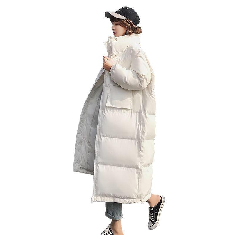 Winter Jacket Women   Parka   Thicken Jaqueta Feminina Long Jacket Coat Oversized Outerwear Long Sleeve Down Cotton Winter Coat Q703