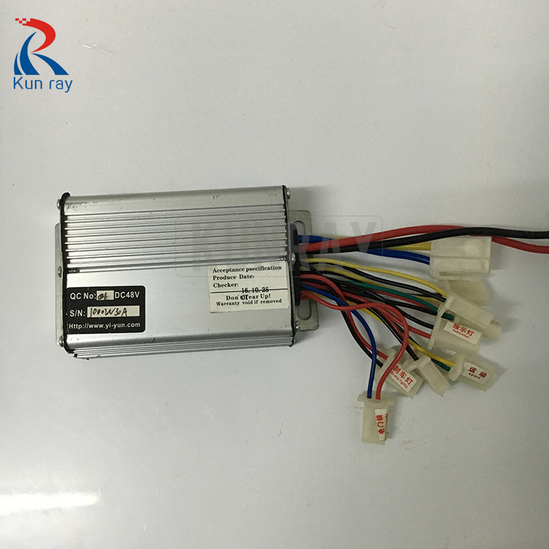 ФОТО 48V 1000W 30A Brush Controller,Ebike Controller 1000W Electric Bike Bicicleta Electrica Controller Ebike Electric Scooter Set