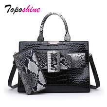 Women Shoulder Bags 2Pcs/Set PU Leather Composite Bag Top-Handle Bags for Female Messenger Bags Ladies Crossbody Women Handbag недорого