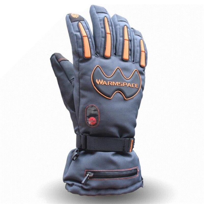 Warmspace 5600 MAH guantes de calor eléctricos inteligentes, batería de litio impermeable de esquí autocalentamiento, 5 dedos y parte posterior de la mano calentados, 3 engranajes 4-8 H - 5