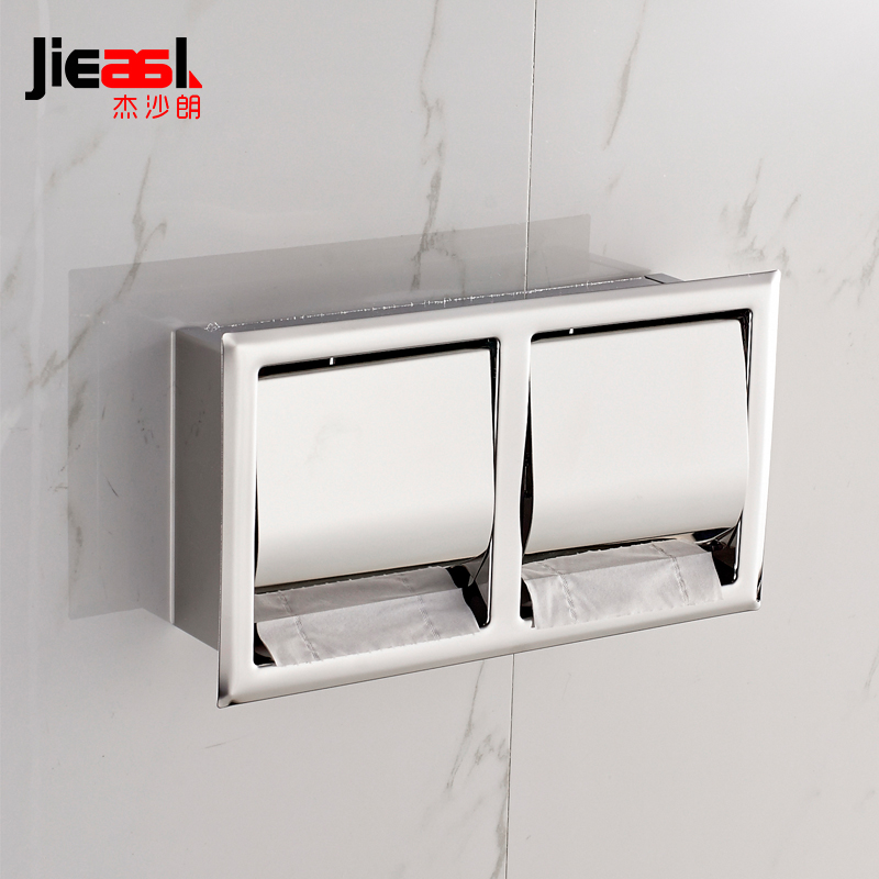 Concealed Install Toilet Paper Holder Inside Wall Mounted Bathroom SUS 304 Stainless Steel Toilet Tissue Roll Holder Paper Rack stainless steel wall mounted waterproof toilet roll paper holder of high capacity for toilet hotel and bathroom