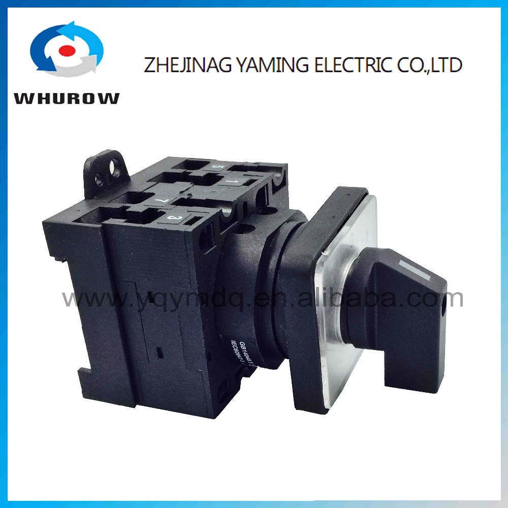 Rotary switch 2 position 0-1 YMW42-32/2 black universal changeover cam switch 2 pole 660V 32A 8 terminal screw silver contact ui660v ith32a 1 0 2 three position rotary cam universal changeover switch