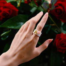 Lotus Fun Real 925 Sterling Silver Natural Handmade Fine Jewelry Ceramic Ring