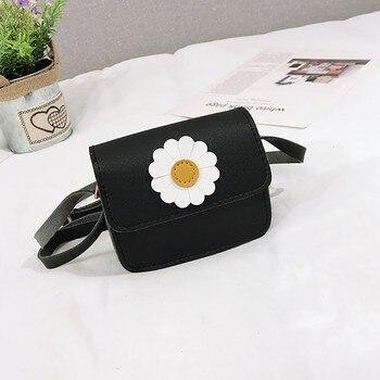 حقيبة يد جذابة للأطفال البنات ظريفة على شكل زهرة عبر الجسم حقيبة كتف من البولي يوريثان متعددة الألوان تصلح للاستخدام اليومي