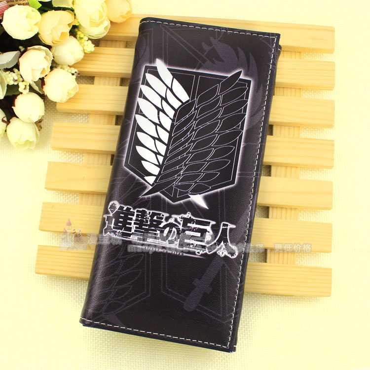 Anime Attack on Titan Cosplay Anime wallet long male and female student wallet child birthday gift