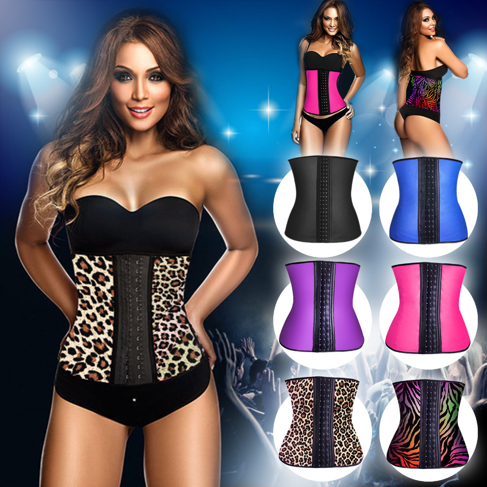 e2c84ffa54 Hot Shapers Women Slimming Body Shaper Latex Waist Trainer Vest Plus Size Waist  Training Corsets Latex Waist Cincher Shapewear