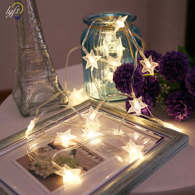 Battery Operated String Lights Led Star Curtain Lights For