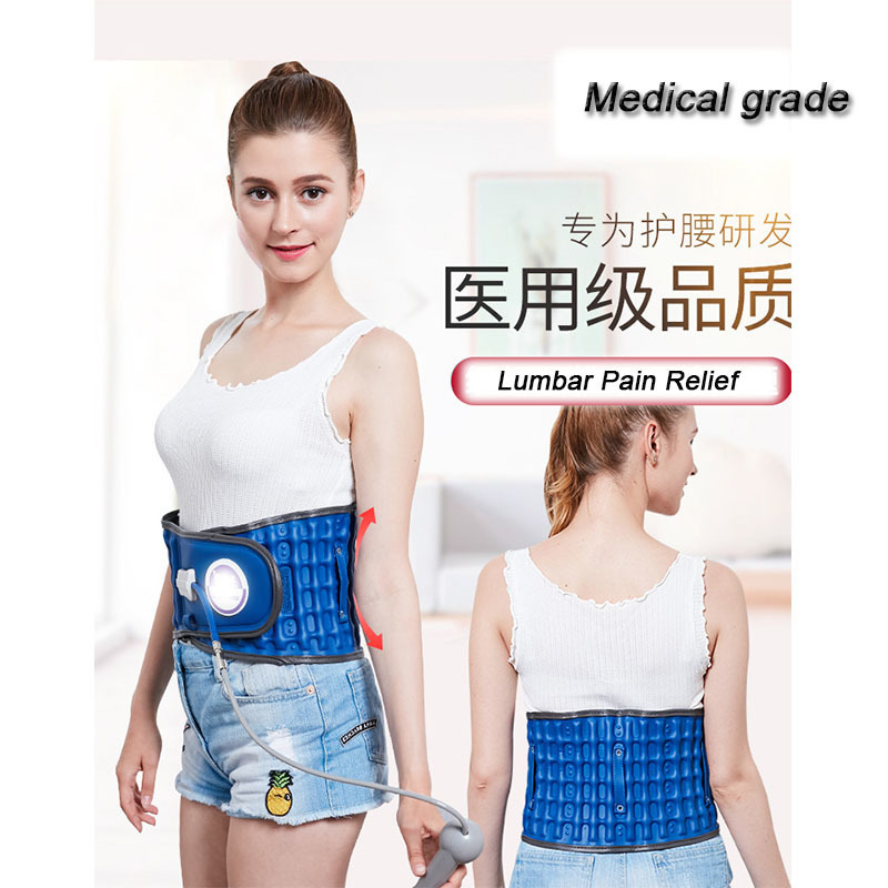 Inflatable Lumbar Traction Device Belts Waist Intervertebral Disc Lumbar Muscle Strain Relax Protruding Orthosis T0179SHE summer breathable protection belt waist disc inflatable lumbar traction