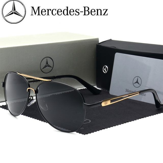 Mercedes-Benz sunglasses Brand Best Men's Sunglasses Polarized Mirror Lens fashion Eyewear Accessories Sun Glasses 612