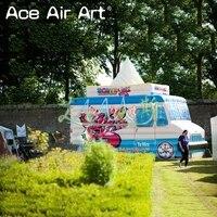 Гигантский грузовик Реплика Надувное мороженое фургон, мороженое продажа Стенд, вывеска дом для летней рекламы