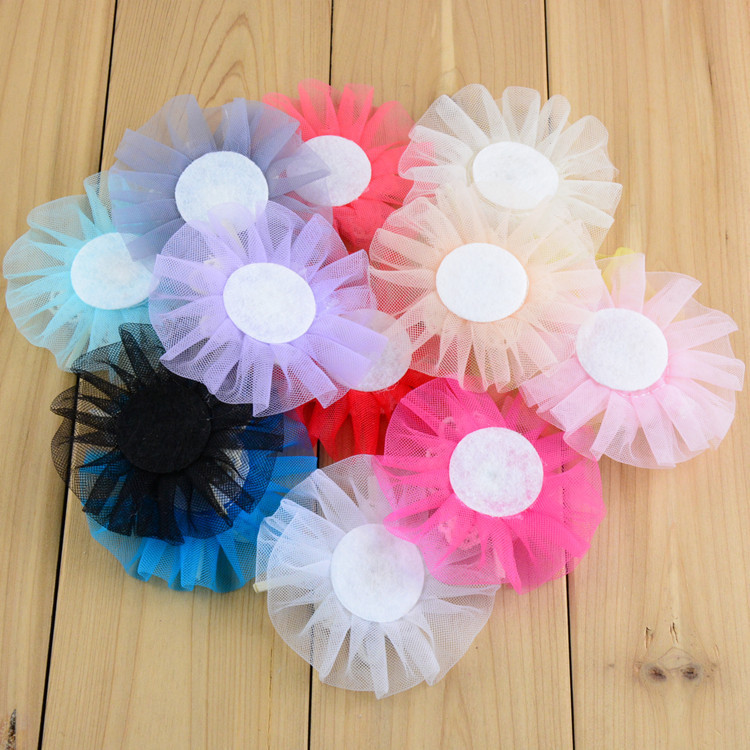Tulle Flower Hair Bow