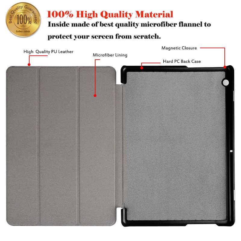 Huawei MediaPad T3 10 9.6 tablet kılıfı Için Huawei T 3 10 9.6 AGS-W09 AGS-L09 AGS-L03 Baskı Flip Deri Standı kapak + Stylus