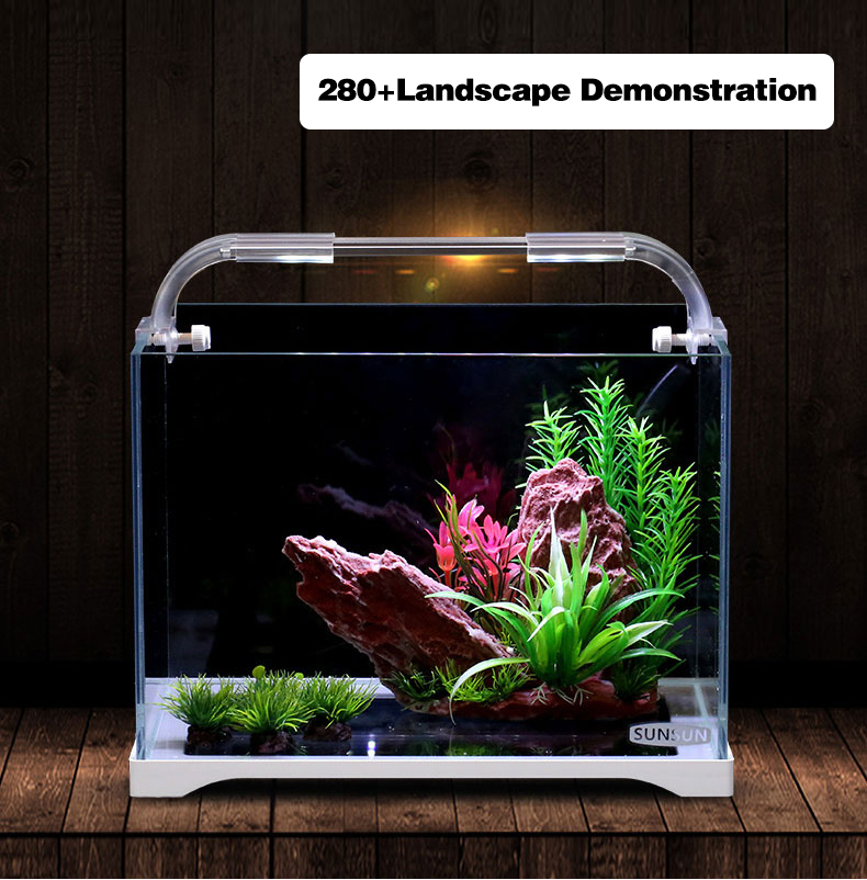 Aquarium Aquarium aquarium Aquarium en verre Ultra-clair aquarium petite Table de bureau Aquarium