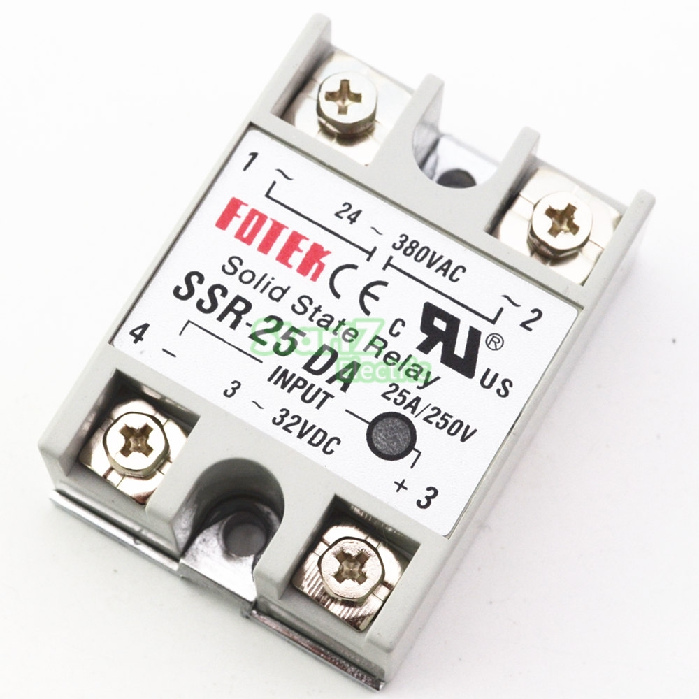 1pcs SSR-25DA 25A Solid State Relay Module 3-32V DC Input 24-380VAC xk dhc 2 a600 rc airplane spare part plastic parts