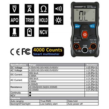 Digital Multimeter Auto Range Professional LCD automatic Smart Multimeters Voltage Ammeter Tester  1