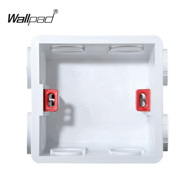 Mounting Box for 86*86mm Wall Switch and Socket Wallpad Cassette Universal White Wall Back Junction Box