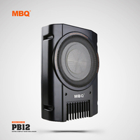 MBQ Car Ultra Thin Subwoofer Modified Bass 8 Inch 12V Car Active Seat Subwoofer Speaker MBQ